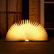 创意木纹书本灯 LED护眼灯 造型多变双色灯光折叠便携 创意家居礼品