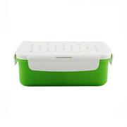 【乐扣乐扣】野餐盒便当盒饭盒塑料微波保鲜盒 3分隔850ml