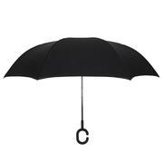 创意第三代c型手柄双层免持式反向伞 艺术礼品定制