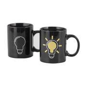 创意变色陶瓷杯 魔术杯 电灯泡变色杯