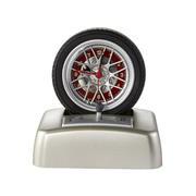 旋转轮胎造型引擎响声闹钟 创意礼品 汽车礼品定制