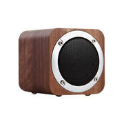 蓝牙复古迷你小音箱 重低音炮插卡便携音响 桌面木质简约音响