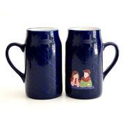 变色水杯 浪漫流星之夜变色杯 陶瓷变色 创意新奇特水杯