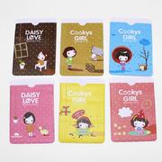 韩版可爱女孩双卡位卡套  宣传小礼品