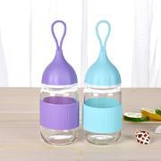 小艾透明玻璃杯 便携迷你礼品杯 展会促销礼品 工会活动小奖品