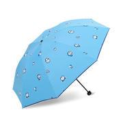 伴你同行 哆啦A梦伞 三折黑胶晴雨伞