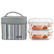 【乐扣乐扣】玻璃饭盒耐热保鲜盒便当盒套装LLG429S901 企业宣传品