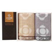 【洁丽雅】礼盒毛巾全棉提花 两条装面巾 公司发送的小礼品
