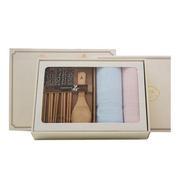 【竹印象】天然竹纤维糖果色毛巾礼盒+竹筷餐具礼盒 公司福利 员工礼品