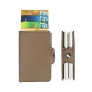 实用多功能卡包零钱包名片包 防磁金属名片盒银行卡包