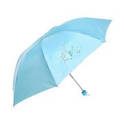 三折纯色印花广告雨伞 促销小礼品