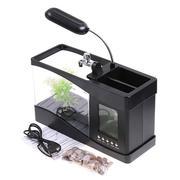 多功能电子鱼缸桌面摆件+台灯+万年历+闹铃+笔筒 生活小礼品