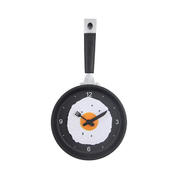 创意煎蛋平底锅时钟 高档挂钟时乐锅钟 实用又便宜的小礼品有哪些