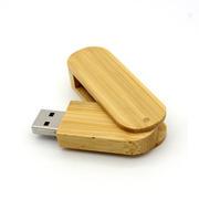 木头质料尚创意U盘 员工转正礼品