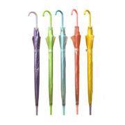 彩色透明雨伞 广告伞 直杆自动雨伞 10块钱左右的礼品