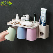 梵特小麦秸秆倒置磁吸式洗漱套装(带挤牙膏器) 促销活动赠送礼品