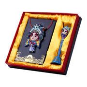 中国风脸谱礼盒两件套 树脂工艺摆件礼盒 中国特色商务礼品
