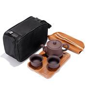 便携旅行功夫茶具套装 紫砂一壶两杯 开业礼品 促销礼品