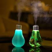 七彩灯泡型家用加湿器 桌面雾化器usb迷你电灯泡空气净化器 送给客户小礼品