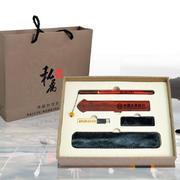 掐丝红木签字笔黄铜U盘商务礼品礼盒套装 实用精致礼品