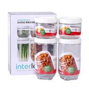 【乐扣乐扣】储物罐保鲜盒四件套 密封零食盒 INL301S001 50元能买到什么东西