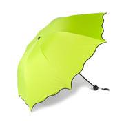 创意遇光开花三折黑胶魔术防晒晴雨伞 活动礼品
