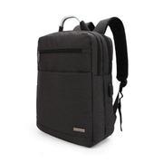 14寸智能USB充电可手提背包 拉链韩版简约时尚双肩商务背包
