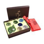 冰裂茶具礼盒七件套 一壶六杯功夫茶具礼盒
