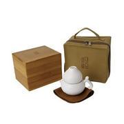 【生活演异】白石葫芦 素陶定制商务茶具创意礼品