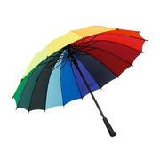 创意彩虹16骨直杆广告伞 地产礼品