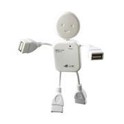 多功能便携人形USB一拖四集线器 机器人一分四HUB 5元到10元的小礼品