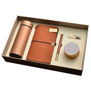 保温杯+旅行本+红木笔+8GU盘+蓝牙音箱五件套套装 年会派送小礼物