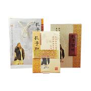 《孔子圣迹》丝绸邮票册 丝绸文化礼品