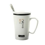 创意大V型简约陶瓷杯 咖啡杯子400ml 广告促销礼品