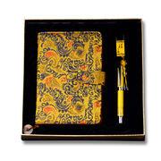 笔记本+真瓷笔+8GU盘三件套 中国风笔记本套装 成都蜀锦蜀绣商务礼品