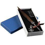 复古欧美羽毛钢笔套装 见客户送什么礼品 开业小礼品