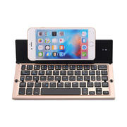 GK蓝牙三折折叠无线铝合金键盘 手机平板电脑通用