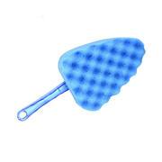 三角海绵刷 蓝色波浪洗车海绵刷 高密度洗车海绵洗车工具LS-411