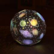 梦幻星空钻石投影灯 USB充电七彩自动旋转变色投影小夜灯 创意礼品
