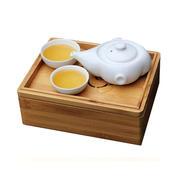 【生活演异】闲云便携茶具套装 白瓷一壶两杯 商务礼品