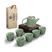 梅花茶壶礼盒 一壶六杯特色浮雕套装 高端客户送什么礼品
